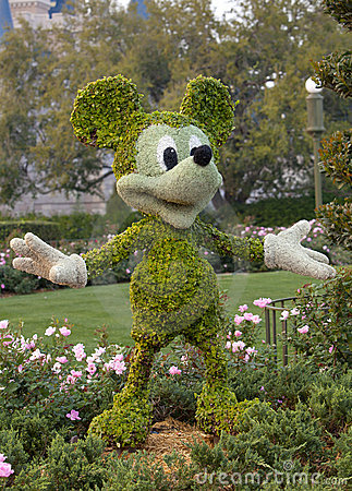 Mickey Mouse Topiary Editorial Photo