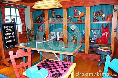 Mickey s Game Room at Disneyland Florida Editorial Image