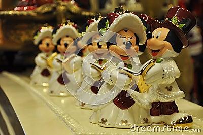 Mickey und Minnie Mäusedekoration Redaktionelles Stockbild