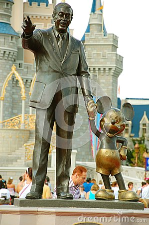 Mickey and Walt statue Editorial Stock Image