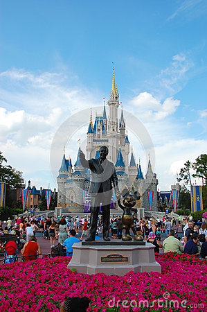 Mickey and Walt statue Editorial Photo