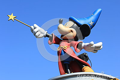 Micky Mouse in Disneyland Paris Editorial Photo