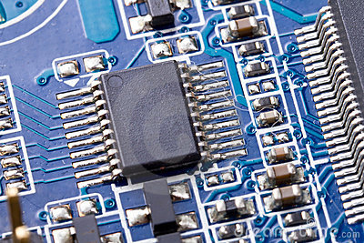 Micro chip on the computer motherboard