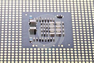 Micro processor close up