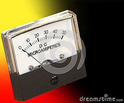 Microamperes Panel Meter