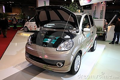 The Microcar M.Go electric car Editorial Photography