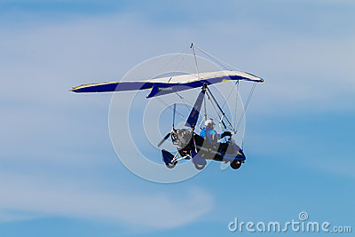 Microlight Aircraft Pilot Blue Sky Blue Editorial Photography