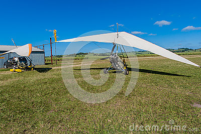 Microlight Aircrafts Field Flying Editorial Image