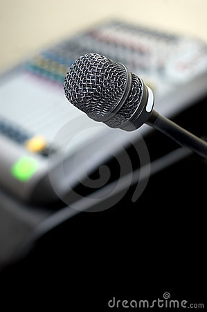 Free Microphone And Sound Mixer Royalty Free Stock Photos - 3502208