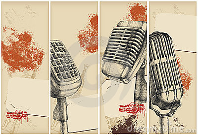 Microphone banners-drawing
