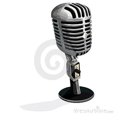 Microphone with clipping path