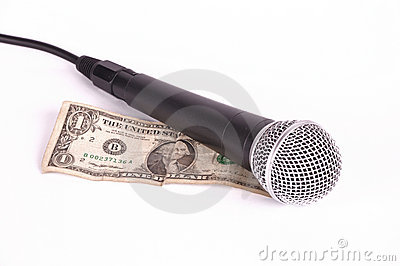 Microphone and dollar