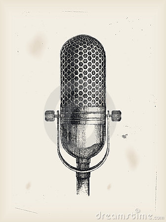 Microphone drawing Royalty Free Stock Image Image 15599646