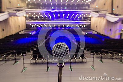 Microphone in Empty Concert Venue