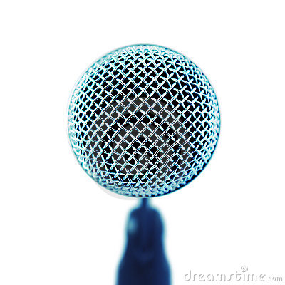Microphone. Front View.