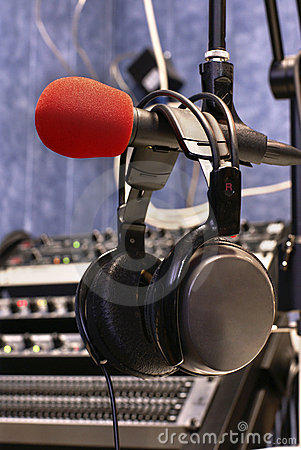 Microphone with head phones