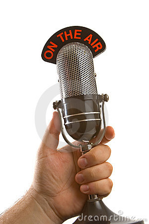 Free Microphone In Hand Royalty Free Stock Photography - 9124867