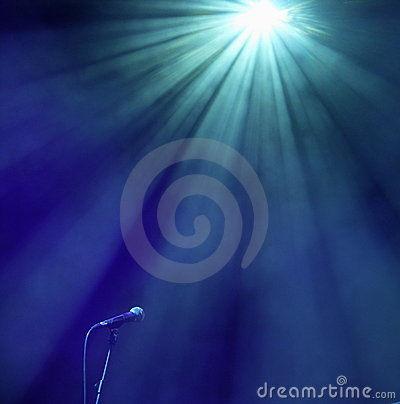 Free Microphone In The Blue Royalty Free Stock Photo - 9373325