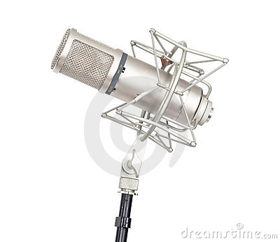 Microphone isolated on white