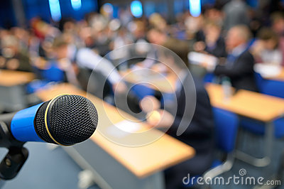 Microphone in the Lecture Hall.
