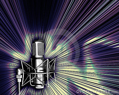 Microphone with a light explos