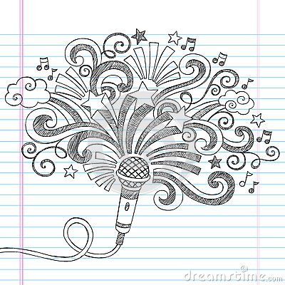 Free Microphone Music Sketchy Doodles Vector Illustrati Stock Photos - 33826213