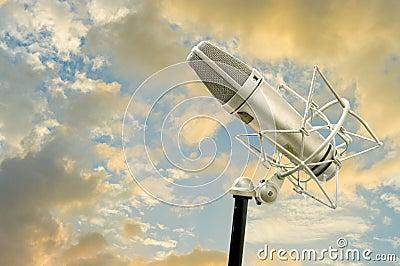 Microphone with nice sky
