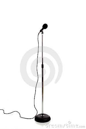 Free Microphone On A Stand Royalty Free Stock Images - 10675709