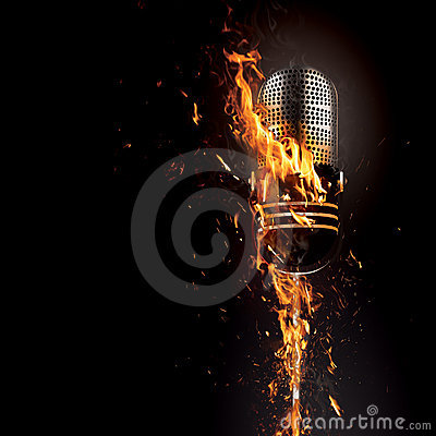 Free Microphone On Fire Royalty Free Stock Photography - 6601207