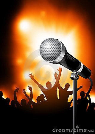 Free Microphone On Stage Stock Photos - 14849513