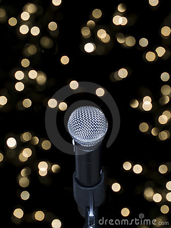 Free Microphone On Stage Royalty Free Stock Photo - 6305205