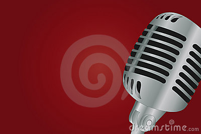Microphone over gradient background