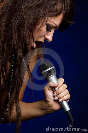 Microphone Singing Girl