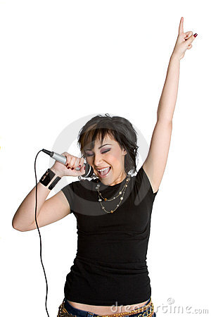 Microphone Singing Girl