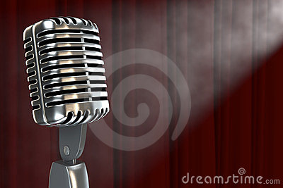 Microphone In Smokefilled Room