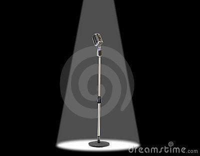 Microphone under spotlight