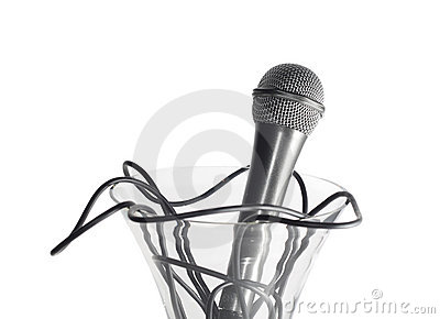 Microphone in the vase