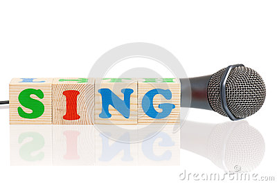 Microphone and word Sing