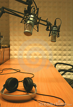 Free Microphones And Headphones Stock Photography - 4994122