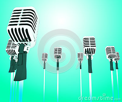 Image result for Band of microphones