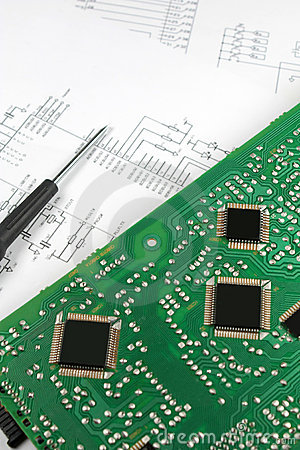 Microprocessors on circuit board