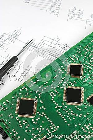 Microprocessors on circuit board