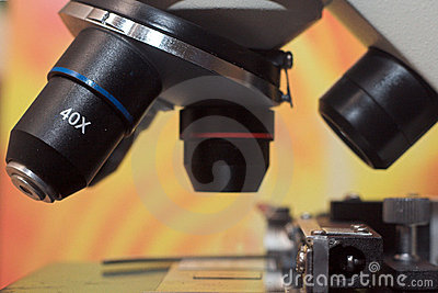 Microscope close up