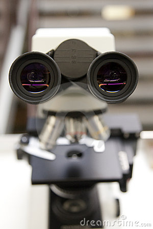 Microscope in Doctor s Lab