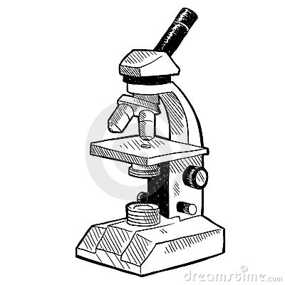 Microscope Drawing Stock Images Image 22416984