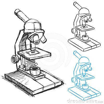 Beach chair beach chair clipart - Microscope Drawing Set Royalty Free Stock Image Image