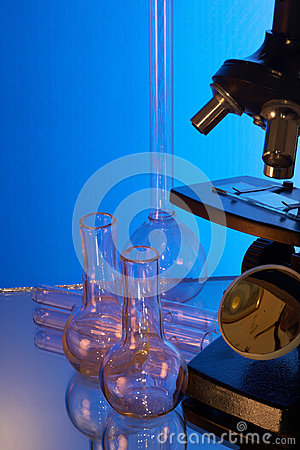 Microscope and laboratory glasswares