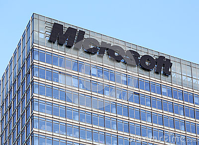 Microsoft Building Editorial Stock Photo