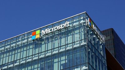 Microsoft corporate building. In Vancouver BC Canada stock footage