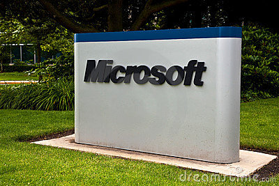 Microsoft Corporation Campus Sign Editorial Image